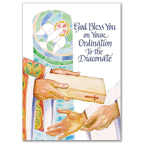 God Bless You on Your Ordination to the Diaconate Card