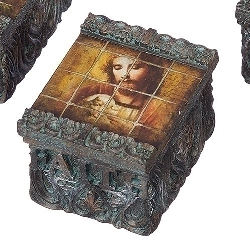 Tile Art Jesus & Lamb Keepsake Box
