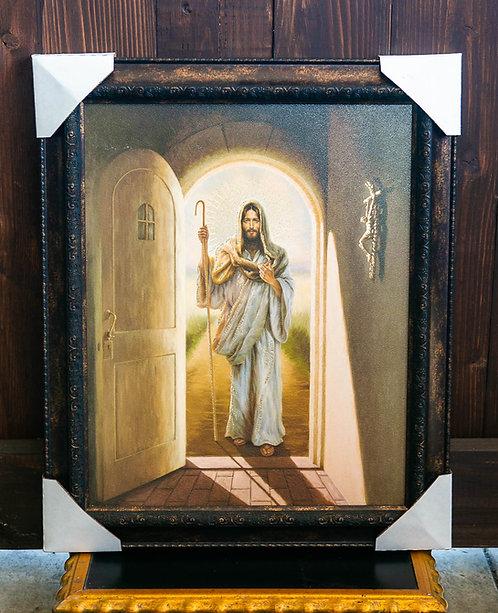 Resurrection Jesus at the Door, Framed
