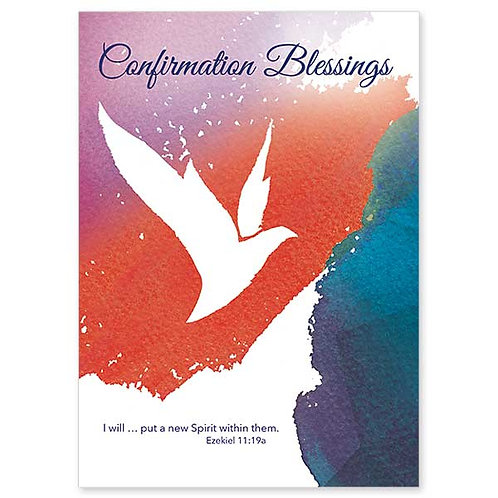 Confirmation Blessings/I Will Put a New Spirit Within Them Card