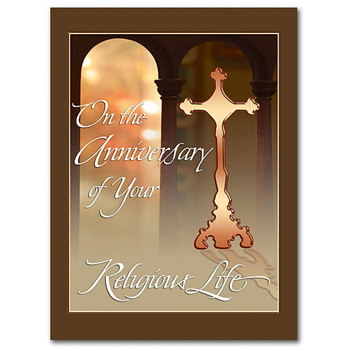 On the Anniversary of Your Religious Life/General Religious Profession Card