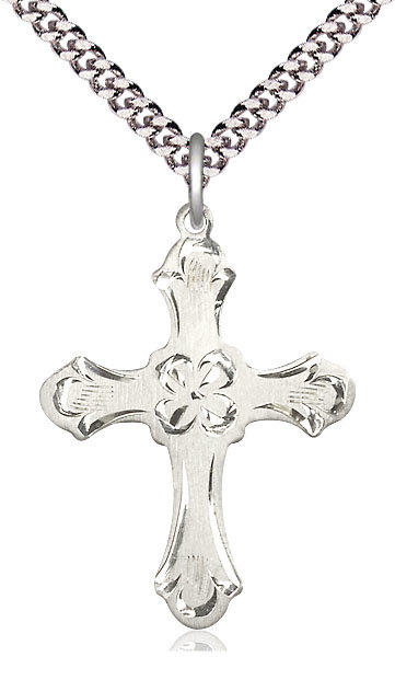 "Cross Sterling Silver on 24"" Chain"
