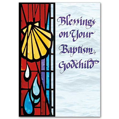 Blessings on Your Baptism, Godchild Card