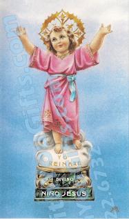 Divine Child Jesus Holy Card