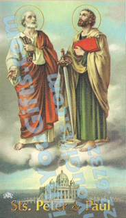 Sts. Peter & Paul Holy Card