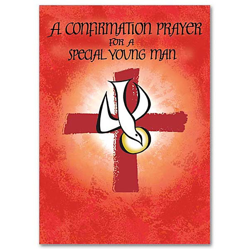 A Confirmation Prayer for a Special Young Man Card