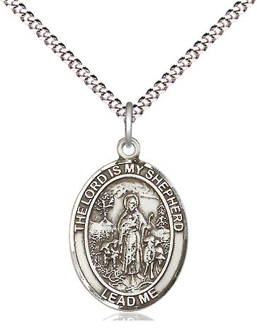 """Lord Is My Shepherd Oval on 24"""" Chain"""