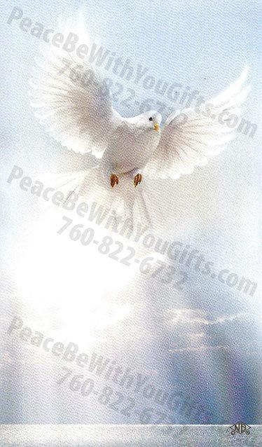 Dove Holy Card