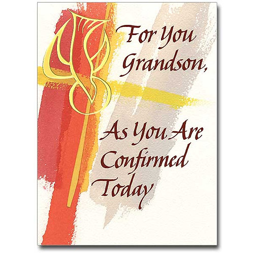 For your Grandson/Confirmation Card