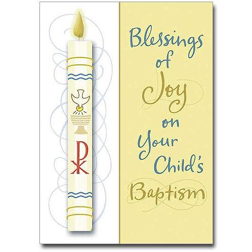 Blessings of Joy/Child Baptism Card