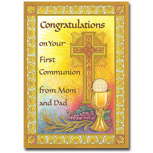 Congratulations… From Mom and Dad/First Communion Card