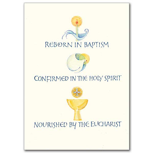 Reborn, Confirmed, Nourished/RCIA Full Initiation Congratulations Card