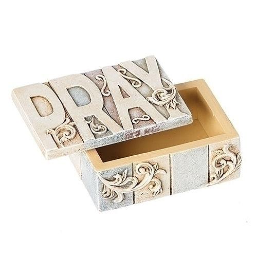 Crossword Pray Keepsake Box