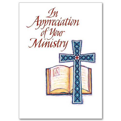 In Appreciation of Your Ministry Card