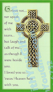 Celtic Holy Card, 2 Designs