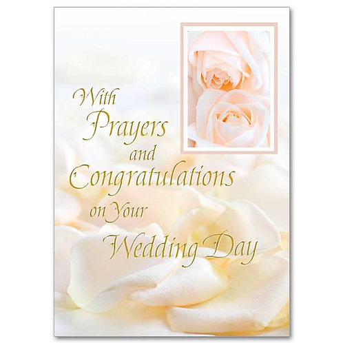 With Prayers and Congratulations on Your Wedding Day Card