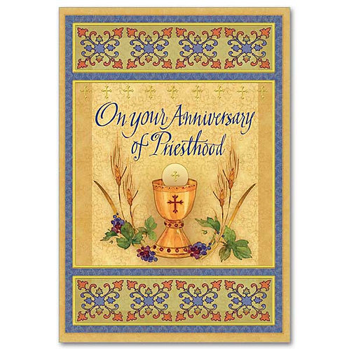 On Your Anniversary of Priesthood/Ordination Card
