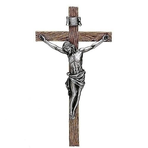"""Antiqued Silver Crucifix, 13"""" or 20"""""""