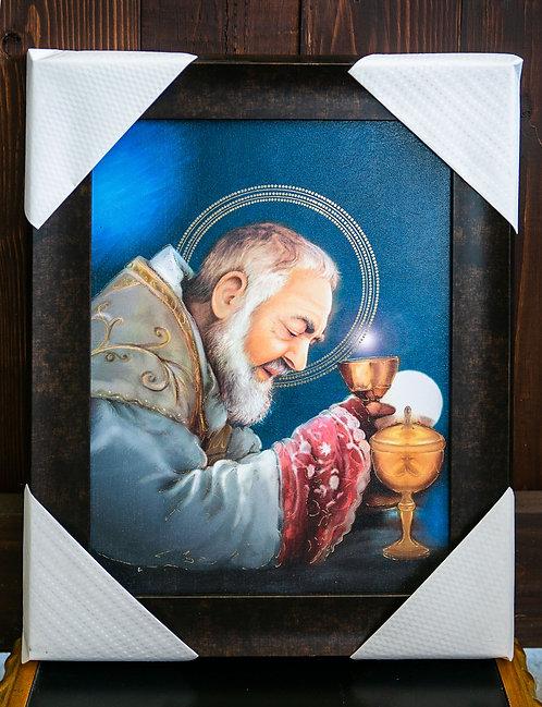St. Padre Pio, Framed