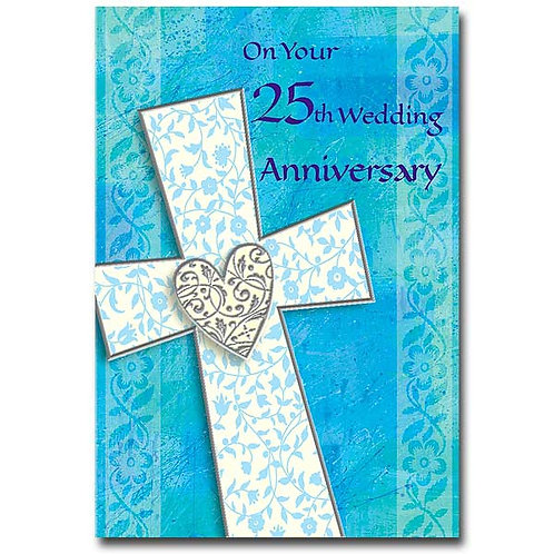 On Your 25th Wedding Anniversary Card