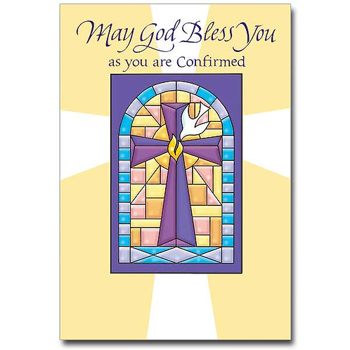 May God Bless You as You Are Confirmed/Confirmation Card