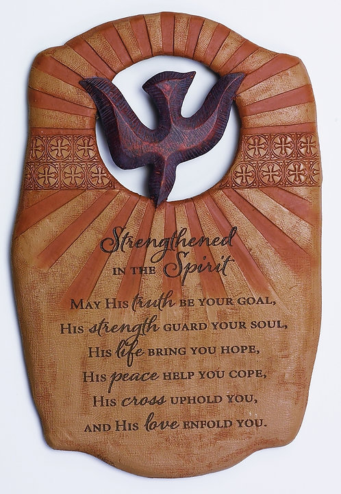 Strengthened in the Spirit Wall Plaque
