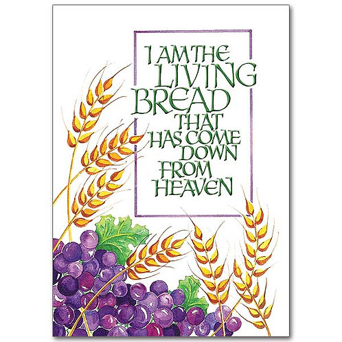 I Am the Living Bread/First Communion Card