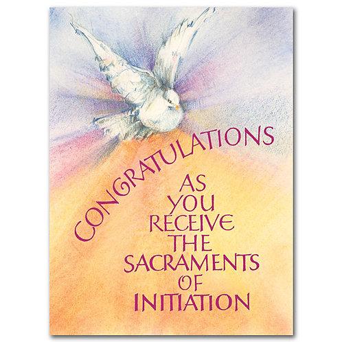 Congratulations (Full Initiation)/RCIA Card