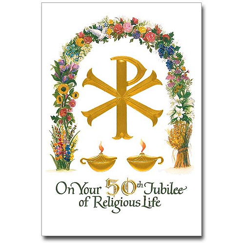 On Your 50th Jubilee of Religious Life/Profession Anniversary Card