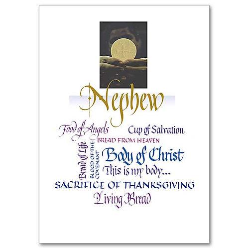Nephew First Communion Card