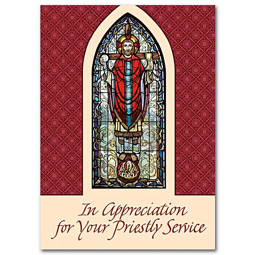 In Appreciation for Your Priestly Service/Priest/Minister Appreciation Card
