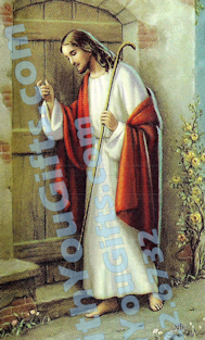 Jesus Knocking Holy Card
