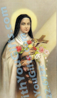 St. Theresa Holy Card