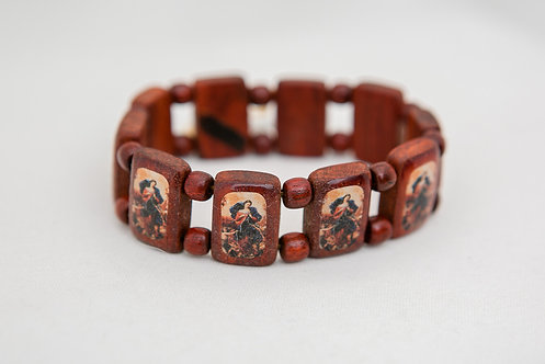 Mary Undoer of Knots Wood Bracelet