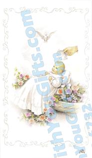 Baptism Holy Card