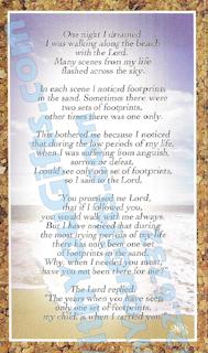Footprints Holy Card, 2 Designs