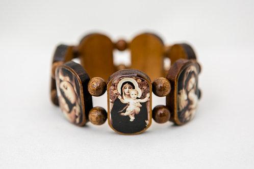 Mother of God, Mary Wood Bracelet