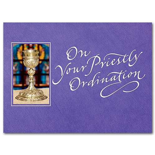 On Your Priestly Ordination Congratulations Card