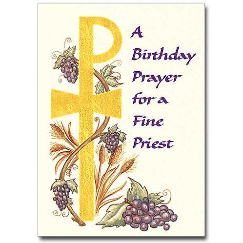 A Birthday Prayer for a Fine Priest Card