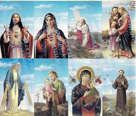 Jesus Mary Joseph Holy Card, 8 Designs