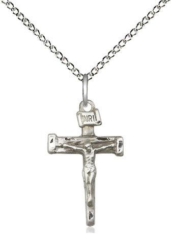 "Nail Crucifix on 18"" Chain"