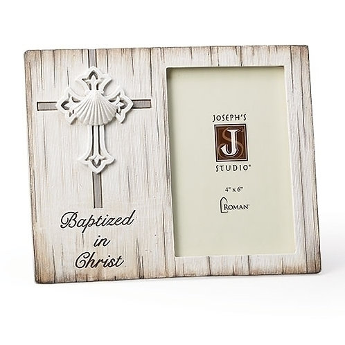 Baptism 4x6 Frame, Distressed Vertical