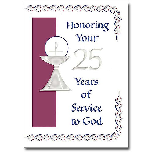 Honoring Your 25 Years of Service to God/Ordination Anniversary Card