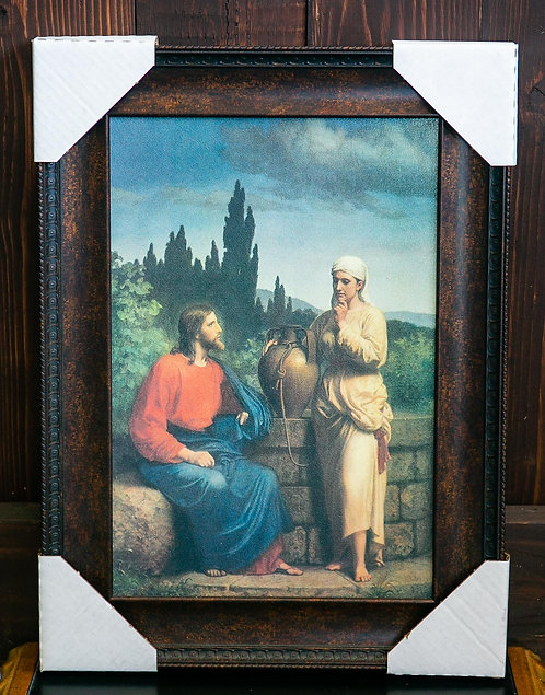 Jesus and Woman at the Well, Framed