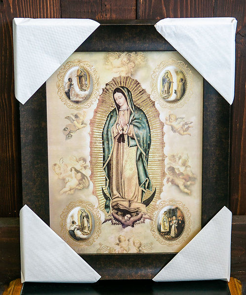 Our Lady of Guadalupe with Juan Diego, Framed