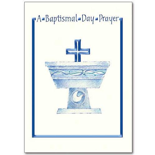 A Baptismal Day Prayer/Child Card