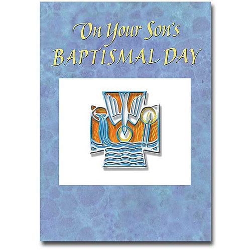 On Your Son's Baptismal Day Card
