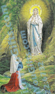 St. Bernadette Our Lady of Lourdes Holy Card