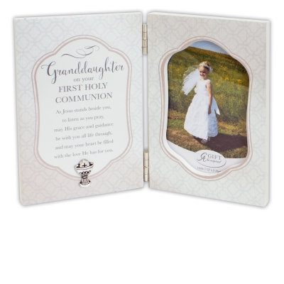 First Communion Granddaughter Frame 3.5 x 5 Photo
