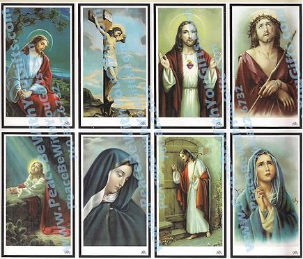 Requiem Holy Card, 8 Designs